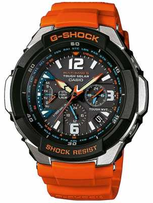 Casio Mens Aviator Orange Strap Watch GW-3000M-4AER