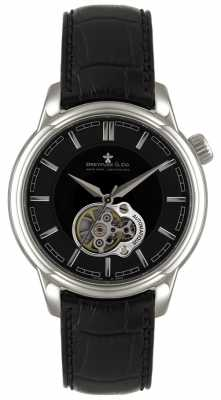 Dreyfuss Mens Auto Stainless Steel Black Dial Skeleton Dial Watch DGS00091/04