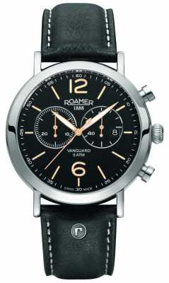 Roamer Mens Vanguar Black & Stainelss Steel Watch 935951415409