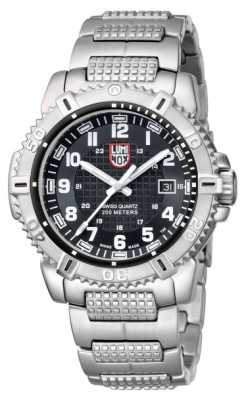 Luminox Mens Modern Marina 6250 Stainless Steel Black Dial Watch A.6252