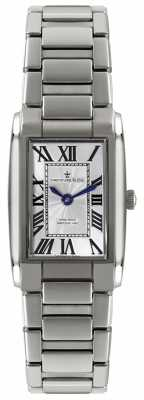 Dreyfuss Womens' Rectangular Dial Hand Made Stainless Steel Watch DLB00051/01