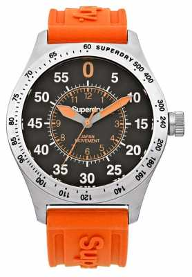 Superdry Mens Compound Sport Orange Silicone SYG111O