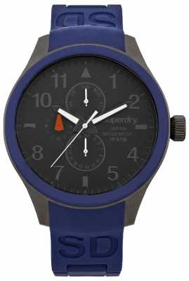 Superdry Gents Rubber Strap Watch SYG110U