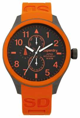 Superdry Mens Scuba Multi Orange Silicone Strap SYG110O