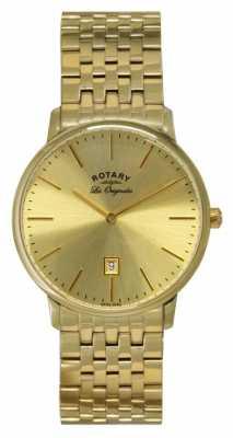 Rotary Mens Kensington Les Originales Gold Plate Watch GB90052/03