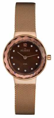 Skagen Ladies' Rose Gold Stone Set Leonora Watch 456SRR1