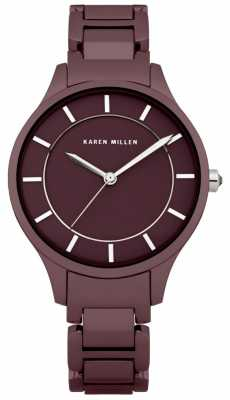 Karen Millen Womens' Mauve Stainless Steel Watch KM133TM