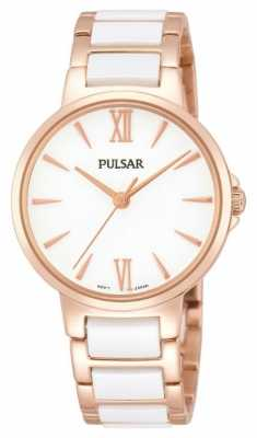 Pulsar Ladies' Rose White Classic Dress Watch PH8078X1