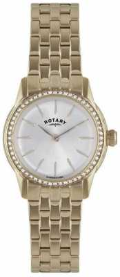 Rotary Womens Verona, Gold Plate, Crystal Watch LB02573/01L
