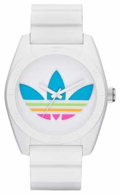 adidas Originals Unisex Santiago White Rainbow Logo Watch ADH2916