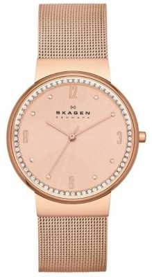 Skagen Ladies Klassik Rose Gold Mesh Watch SKW2130