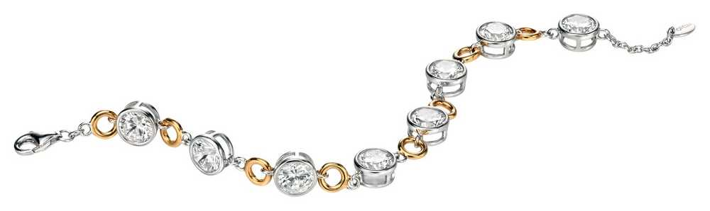Fiorelli Round CXZ And Gold Plated Disc Bracelet B4240C