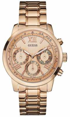 Guess Womens' Sunrise Rose Gold Watch W0330L2