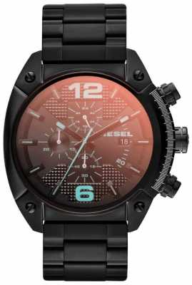 Diesel Mens Overflow Black Steel Watch DZ4316