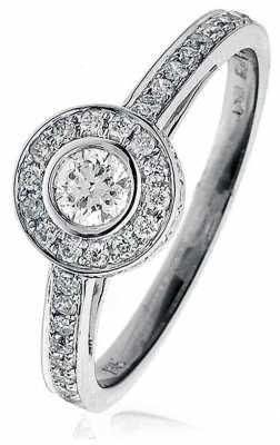 0.60ct Diamond (G SI1) 18ct White Gold BJR0076