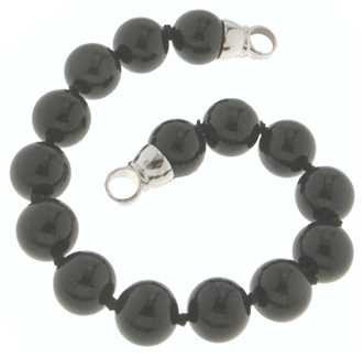 MY iMenso 925 Rhodium-Plated Endcap Onyx 10mm Bracelet 21cm 27-0511-21