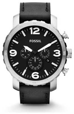 Fossil Mens Nate Chronograph Black Watch JR1436