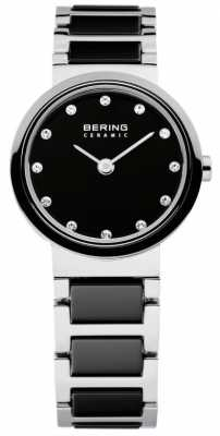 Bering Time Ladies Black and Silver Ceramic 10725-742