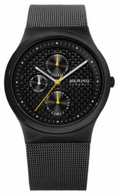 Bering Mens Ceramic Black Carbon Fibre Effect Dial Watch 32139-222