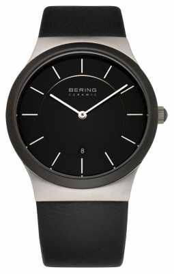 Bering Mens Black Ceramic, Steel Watch 32239-447