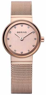Bering Rose Gold Classic Mesh Watch 10122-366