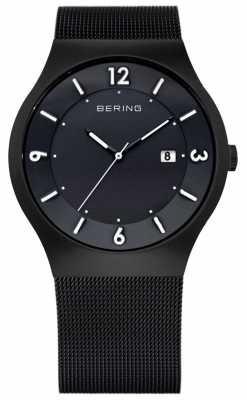 Bering Mens Solar Power, Black IP Steel Watch 14440-222