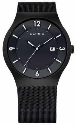 Bering Mens Solar Power, Black IP Steel Watch 14440-222