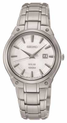Seiko Womens' Stainless Steel Solar Power Watch SUT139P1