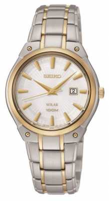 Seiko Womens' Two Tone Solar Power Watch SUT128P1