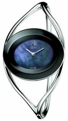 Calvin Klein Womens Delight, Steel / Black, Pearl, (small) K1A2311F