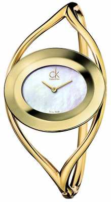 Calvin Klein Womens Delight, Gold, Mother of Pearl Petite K1A2381G