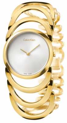 Calvin Klein Ladies Body Yellow Gold PVD Watch K4G23526