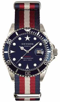 Oxygen Mens blue dial dive watch set colour/camo straps EX-D-ATL-40-NAREIV