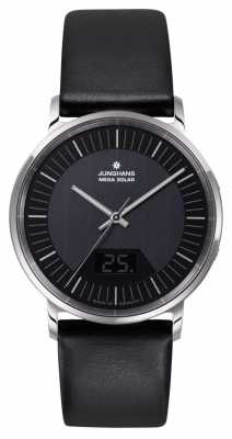 Junghans Mens Milano Mega Solar Black Stainless Steel 056/4220.00