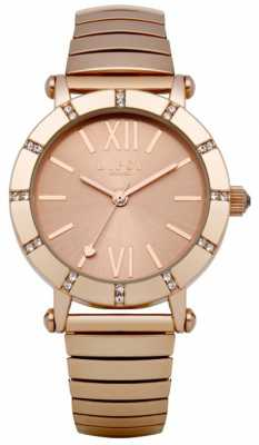 Lipsy Rose Gold Expander Bracelet Watch LP100