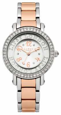 Lipsy Womens Two Tone Bracelet Watch with Silver Tone Crystal Se LP179