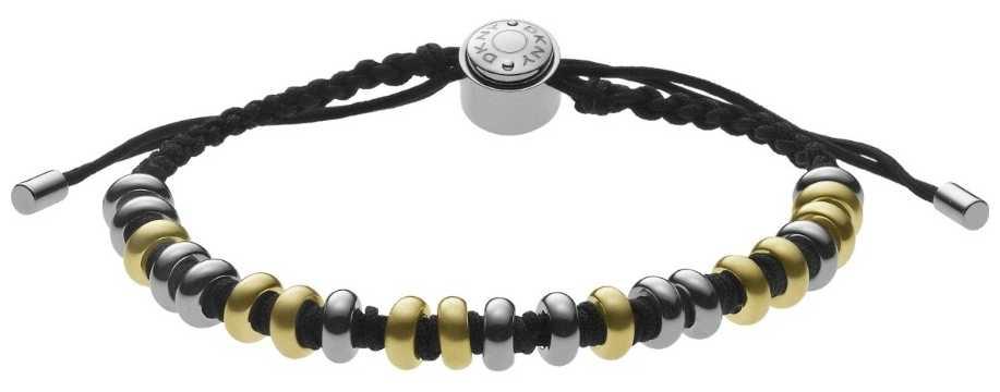 DKNY Womens Black Cord stainless steel bracelet NJ1974040