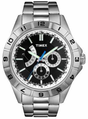 Timex Gent's Retrograde Silver Bracelet Watch T2N516