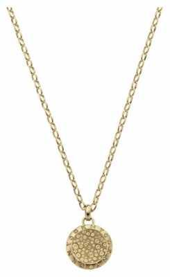 DKNY Glitz Gold Tone Pendant Necklace NJ2022040