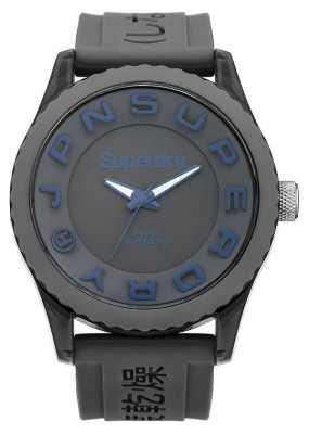 Superdry Mens Tokyo Grey Silicone Strap Watch SYG145E