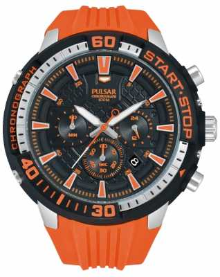 Pulsar Mens X Chronograph Orange and Black PT3511X1