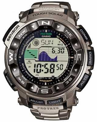 Casio Pro Trek Titanium Alarm Chronograph PRW-2500T-7ER