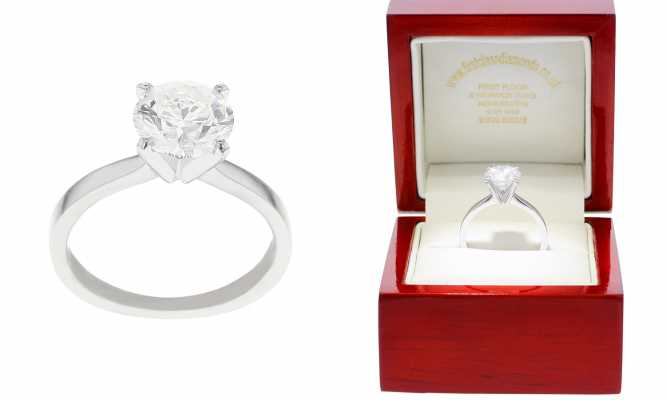 Platinum 2ct Diamond Solitaire Tiffany H/I VS2/SI1 FCD00201