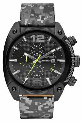 Diesel Mens Overflow Black Camo Watch DZ4324