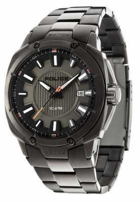 Police Mens Mission, Gunmetal, Black Bezel Watch 13892JSU/61M