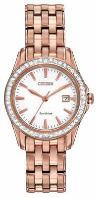 Citizen Womens set Silhouette Crystal Eco-Drive Watch EW1903-52A
