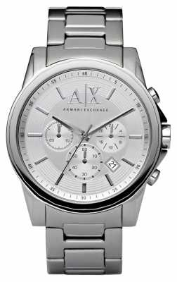Armani Exchange Mens Silver Steel Chronograph AX2058