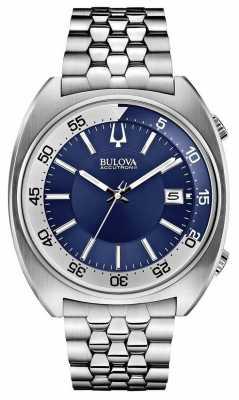 Bulova Mens Accutron II Stainless Steel Blue Dial Watch 96B209