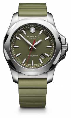 Victorinox Swiss Army I.N.O.X. Green Rubber Strap Mens 241683.1