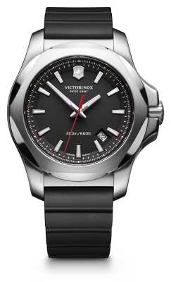 Victorinox Swiss Army I.N.O.X. Black Rubber Strap Mens 241682.1